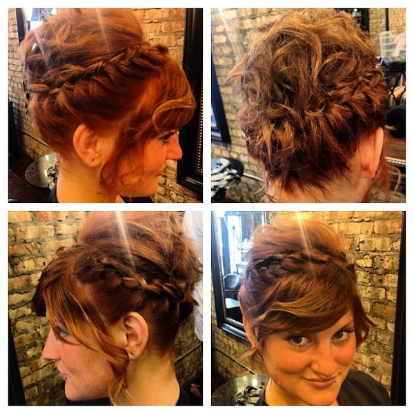 Cute Updos for Girls with Short Hair 1