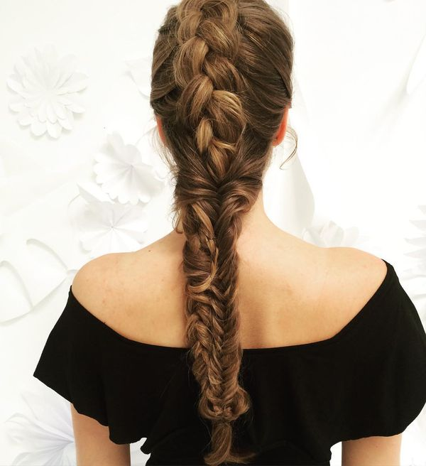 Stunning Mess in a Casual Braid