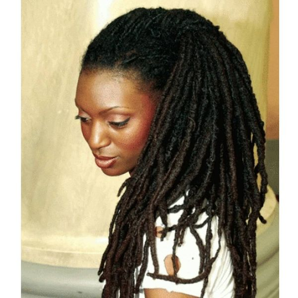 Traditional Dreadlocks in a Twisted Pony
