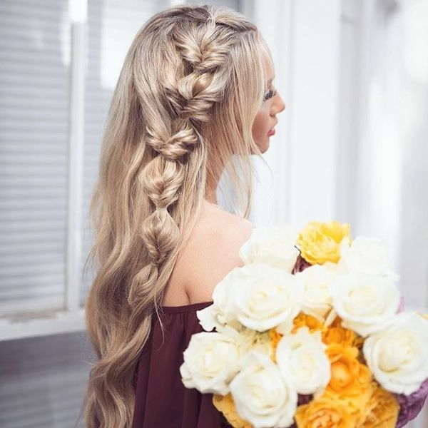 Unusual Knotted & Braided Loose Hairstyle