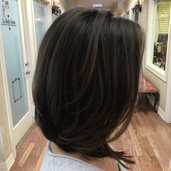 Wonderful Layered Long Bob Haircut1