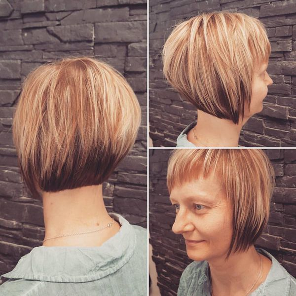 Wonderful Streaked Short Bob0