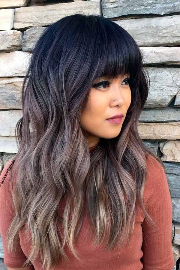 Amazing thick bangs for long hair with layers 1