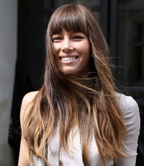 Amazing thick bangs for long hair with layers 2