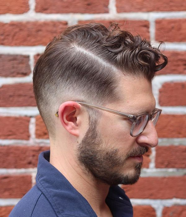 Curly and Wavy Comb Over Hairstyles for Men 1