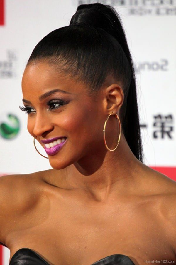 Female Straight Hairstyles for Long Black Hair 4