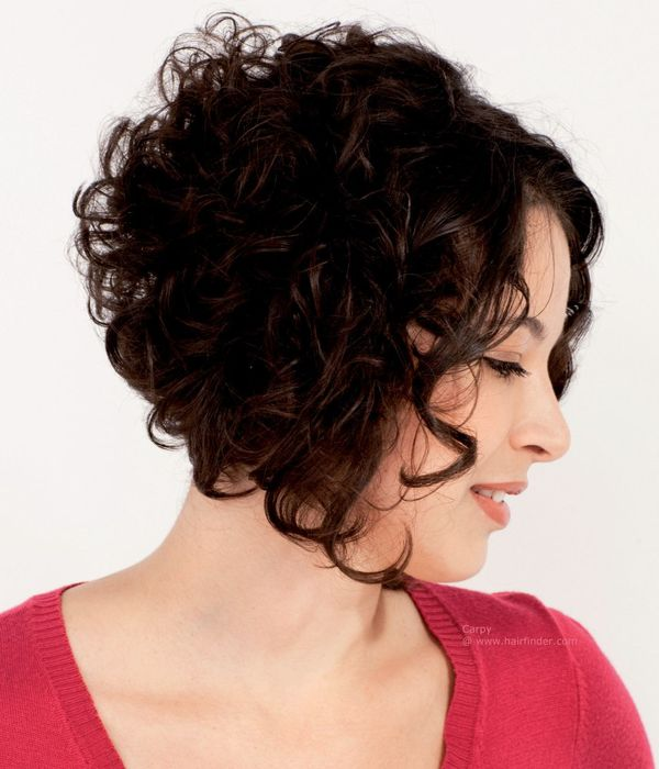 Short Asymmetrical Hairstyles for Curly Hair 3