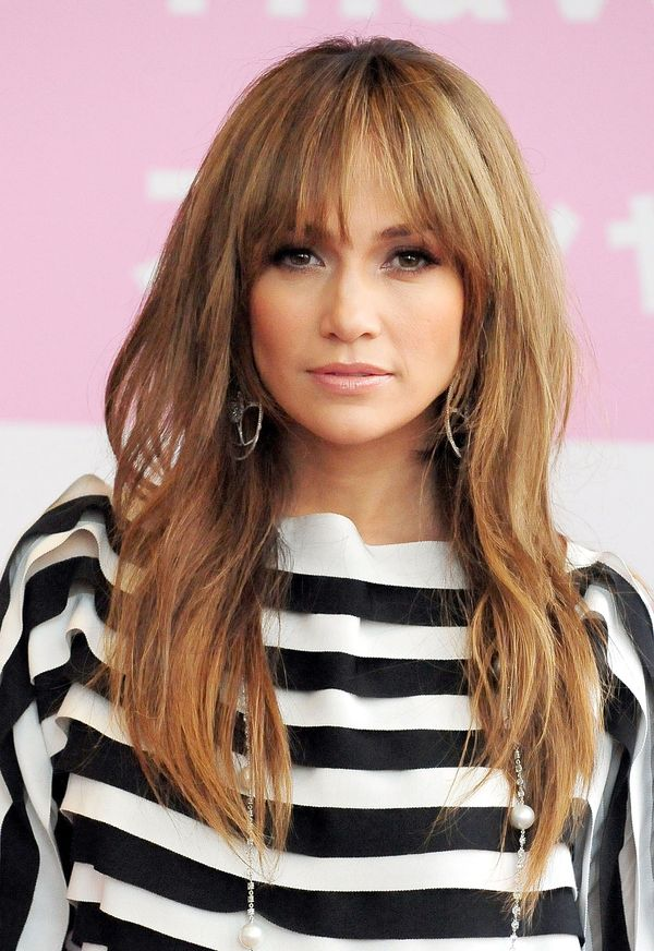 Ways to wear long layered hair with bangs 2