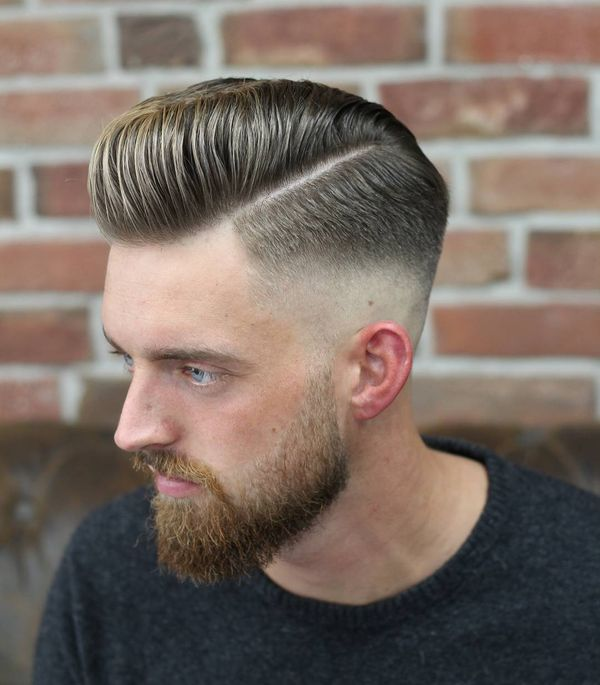Cool mens side parted hair ideas 2