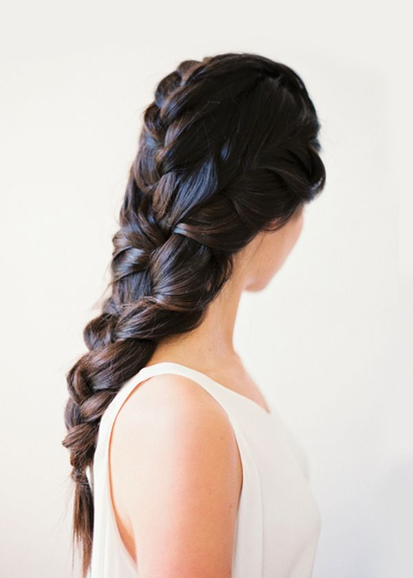 Simple Bridal Hairstyles For Long Straight Hair 3