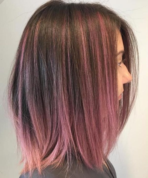 Gorgeous Pink Peek a Boo Hair To Try 1