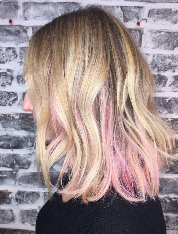 Gorgeous Pink Peek a Boo Hair To Try 2