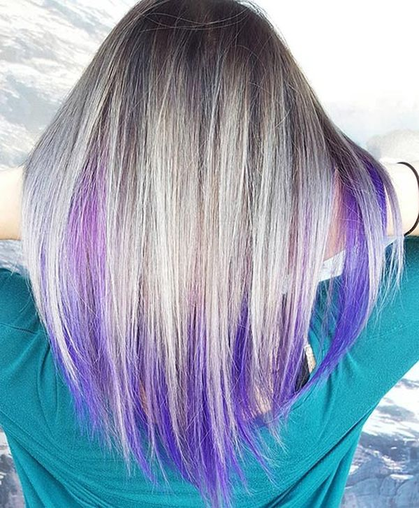 Purple Underneath Colored Hair Youll Love 3