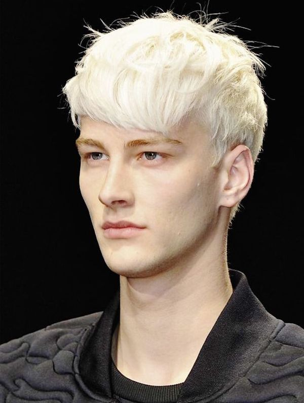 Stylish Hairstyles for Platinum Blonde Hair Men 1