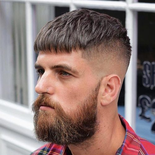 Trendy Men's Caesar Cut Hairstyle 3