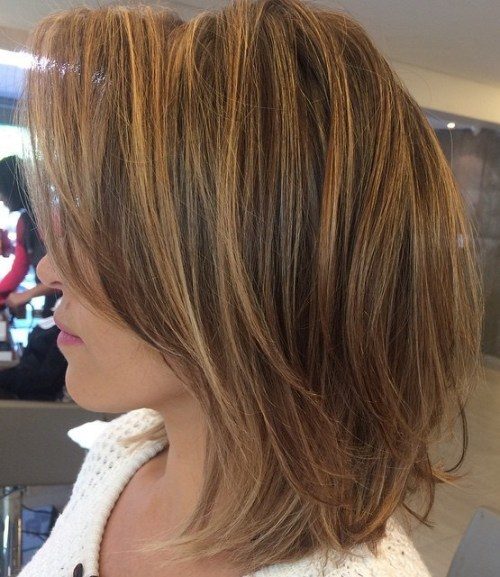Cute Partial Brown And Blonde Highlights 2