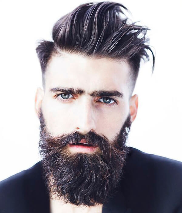 Sexy Mens Hipster Haircuts With Beard 4