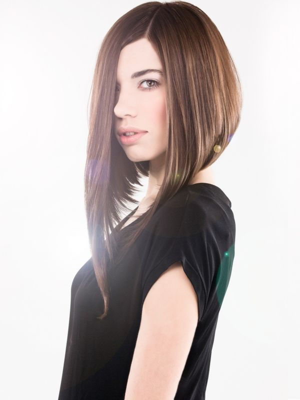 Asymmetrical long bob one side longer bob styles 4