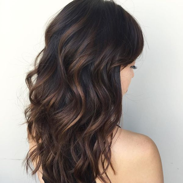 Brunette hair color with highlights 1
