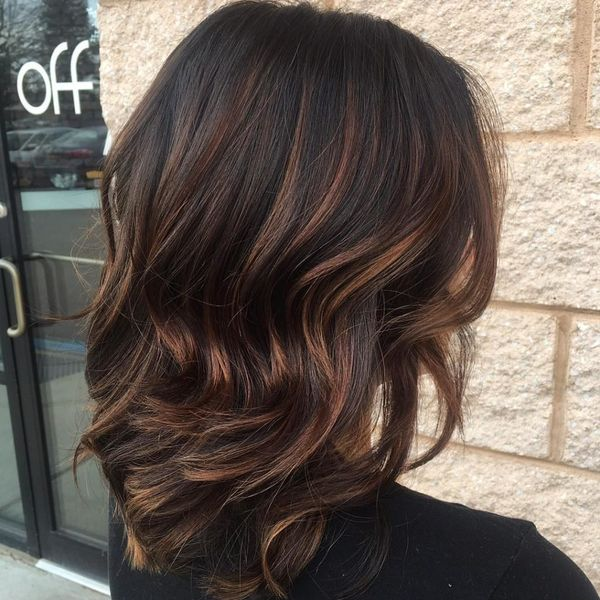 Brunette hair color with highlights 3