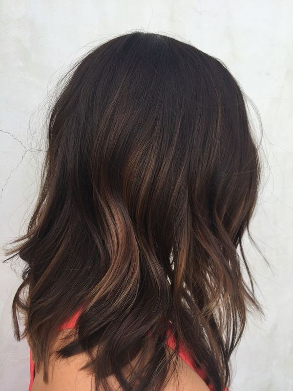 Brunette with Auburn Balayage 2