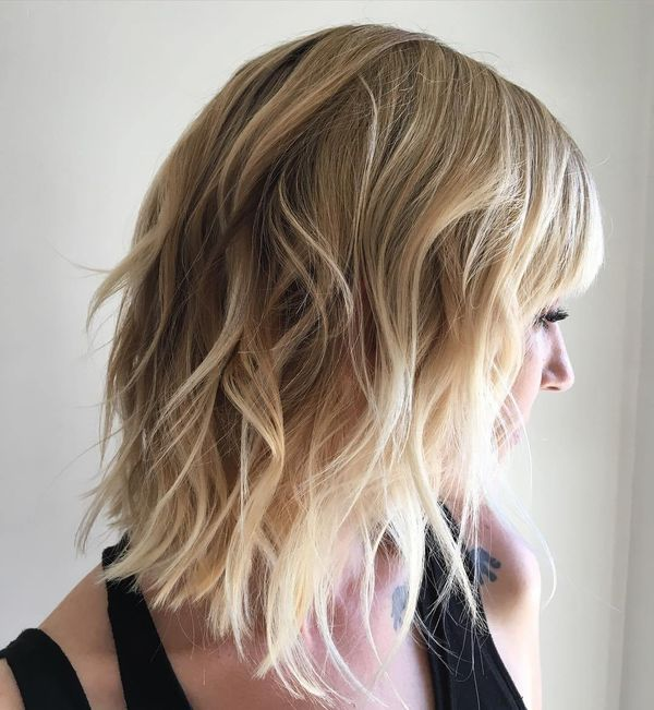 Cool Long Layered Bob Hairstyles For Wavy Hair 3