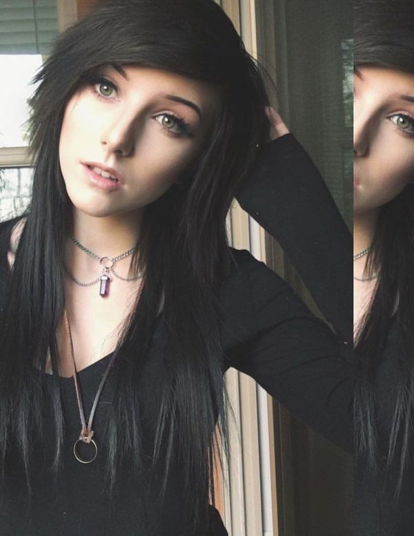 Cool black hair emo style for girls 3
