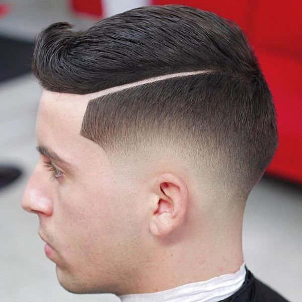 Cool mens hard part haircut styles 1