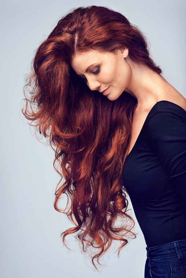 Curly Burgundy Red Hair Styles 2