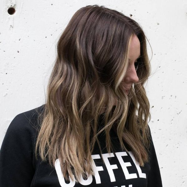 Cute Light Brown Balayage for Dark Hair 3