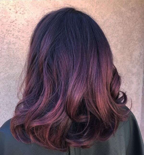 Dark Purple Reddish Hair 1