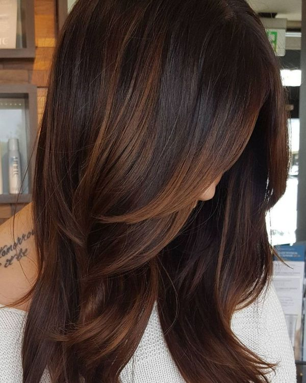 Dark brown hair with highlights 3