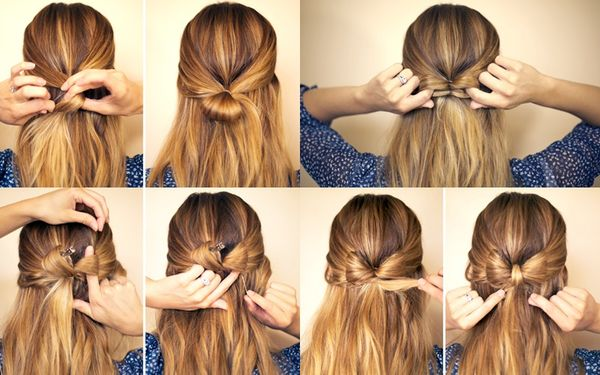 Easy Fancy Updos For Medium Hair Step By Step 1