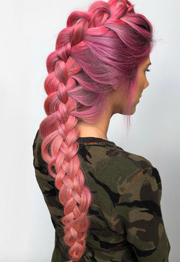 Fancy long braids for thick hair 2