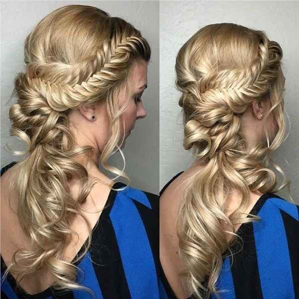 Formal braided hairstyles for girls with long hair 2