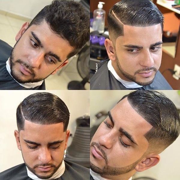 Hard line haircut for men with short hair 2