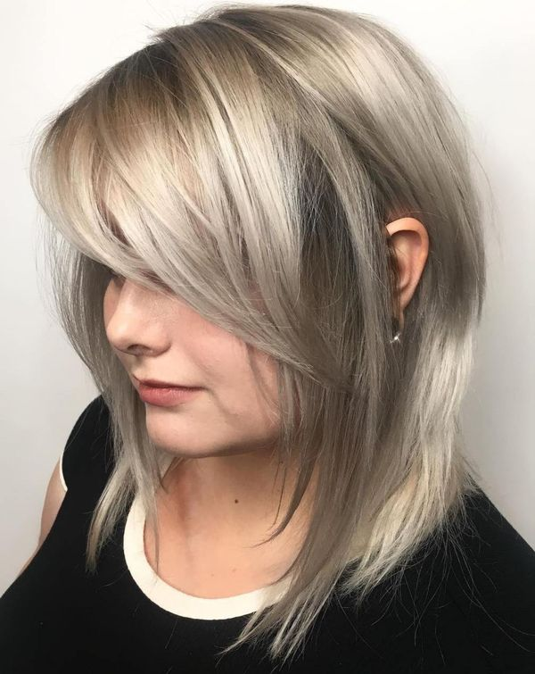 56 Modern Long Bob Hairstyles And Haircuts February 2019
