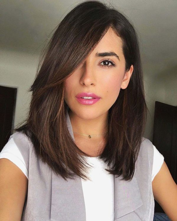 Ideas of long length bob with side part 3