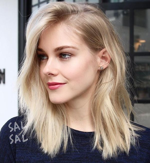 Ideas of long length bob with side part 4