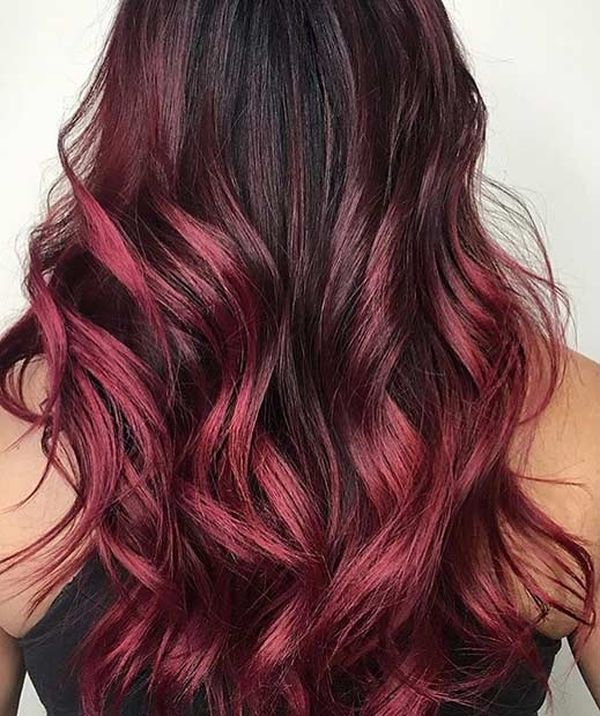 Images of Burgundy Ombre and Burgundy Balayage 2