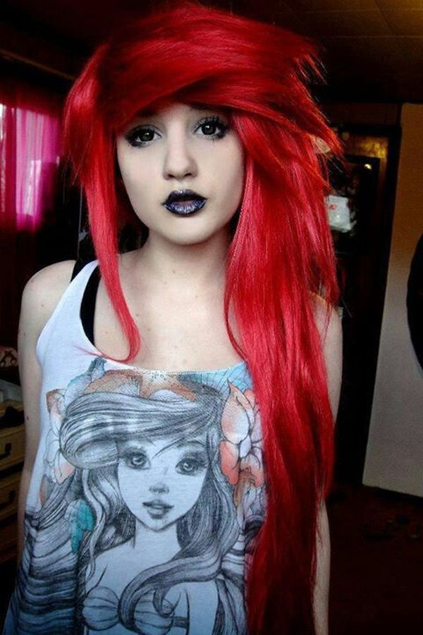 Inspiring ideas of emo bangs for girls 6