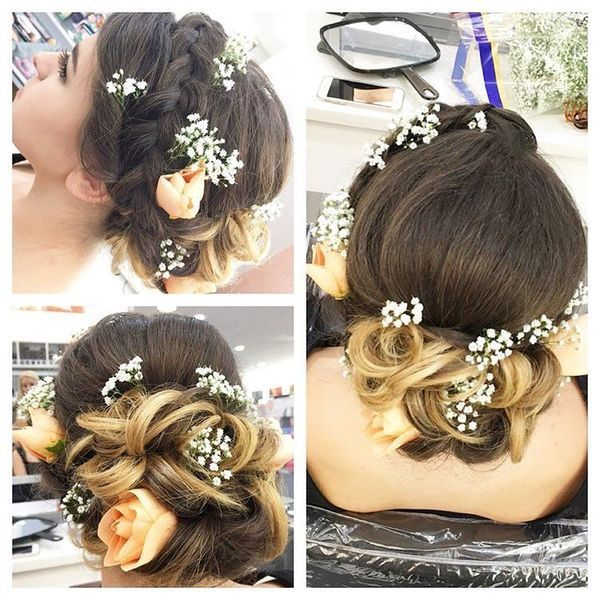 Long prom hairstyles with accessories 4
