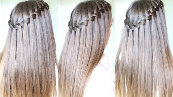 Loose braid hairstyles for very long hair 1