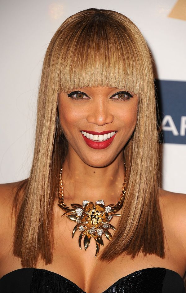 Medium Length Hairstyles with Bangs for Thin Hair 4