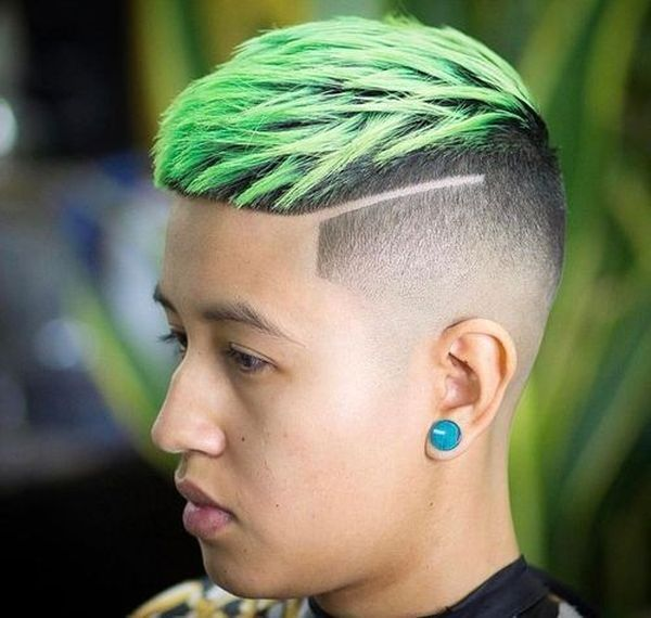 Modern taper fades with designs 5