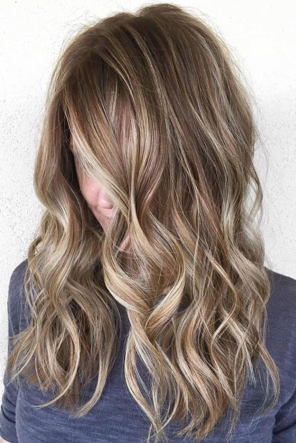 Naturallooking light brown highlights on dark brown hair 1