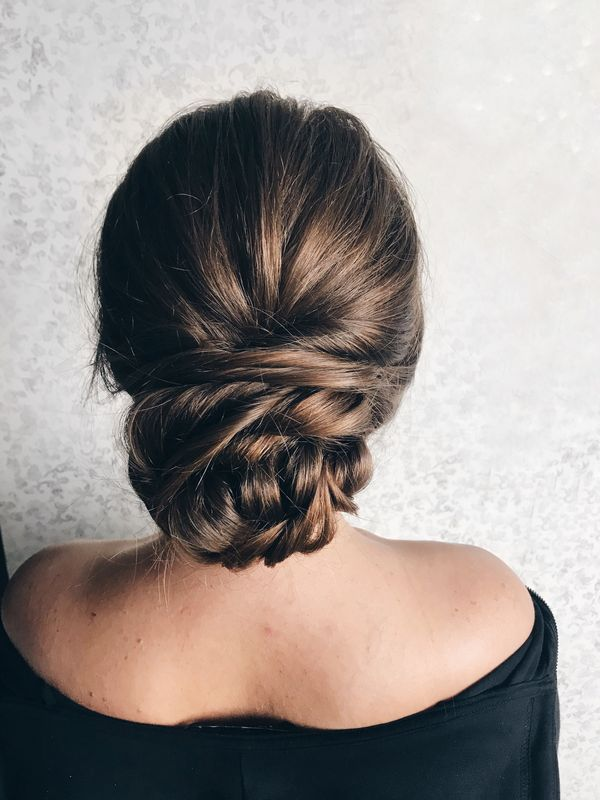 Pretty low bun updos for prom 5