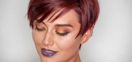 Short Burgundy Hair Ideas 2
