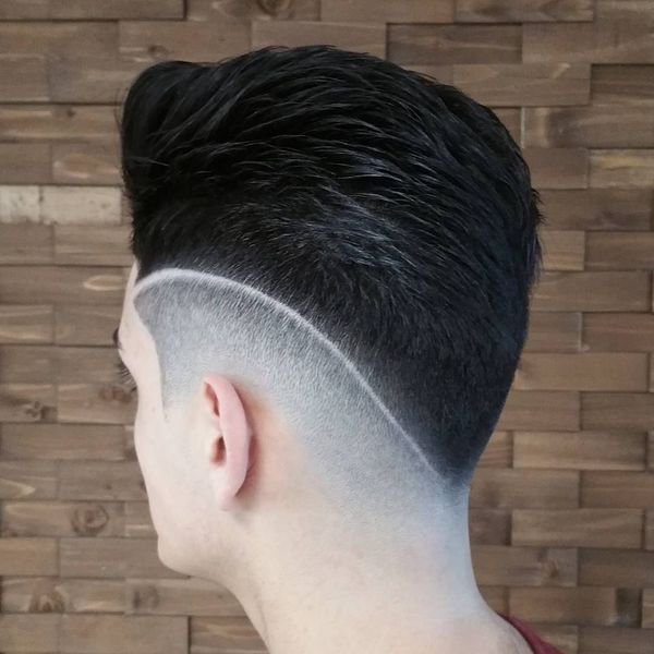 Slick Back Fade Haircut 2
