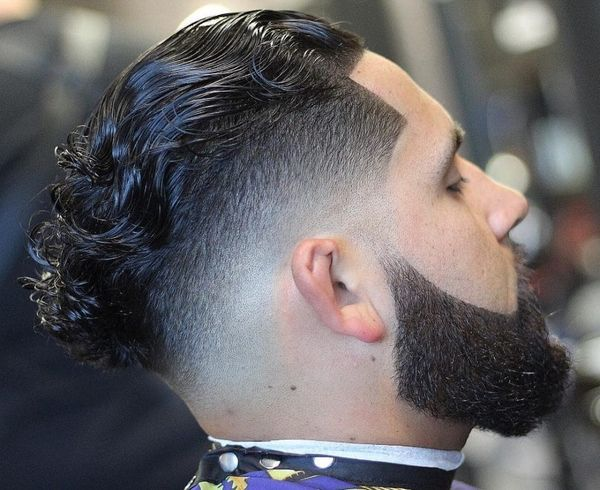Slicked Back Curly Hair 3